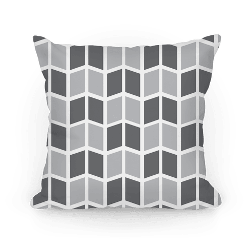Parallelogram Pattern Pillow (Gray)