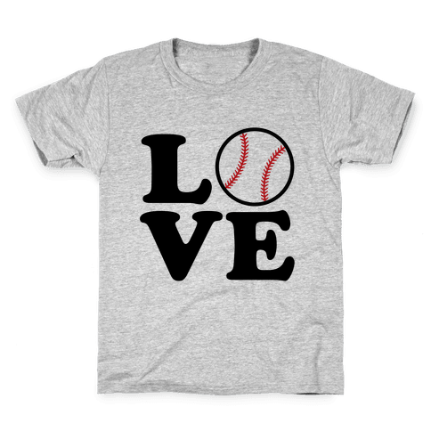 Love Baseball Kids T-Shirt