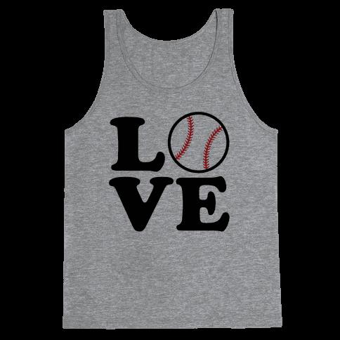 Love Baseball Tank Top