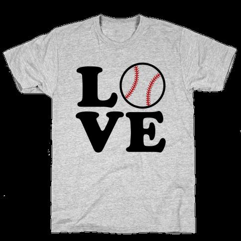 Love Baseball Mens/Unisex T-Shirt