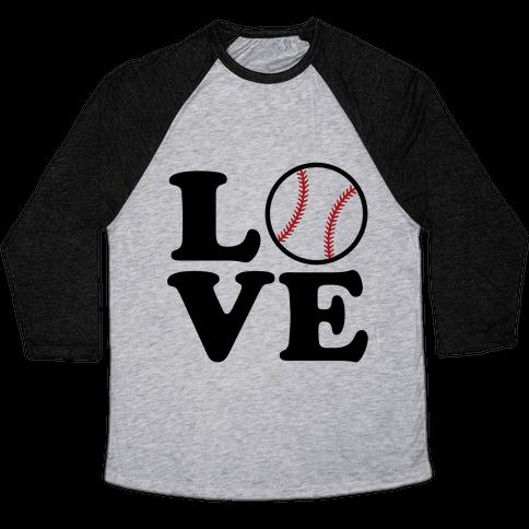 Love Baseball Baseball Tee