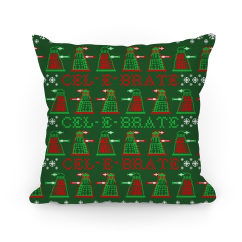 Dalek Ugly Sweater Pattern Pillow