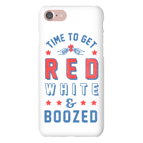 Red White & Boozed (Iphone Case) Phone Case