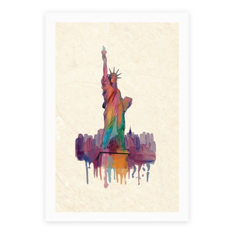 Statue Of Liberty Watercolor Poster