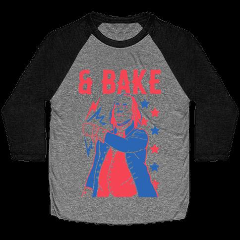 Shake & Bake: Benjamin Franklin Baseball Tee
