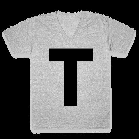 T-Shirt V-Neck Tee Shirt