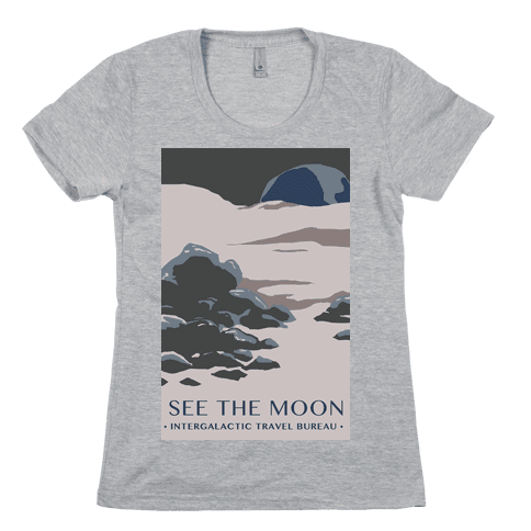 Space Travel - The Moon Womens T-Shirt