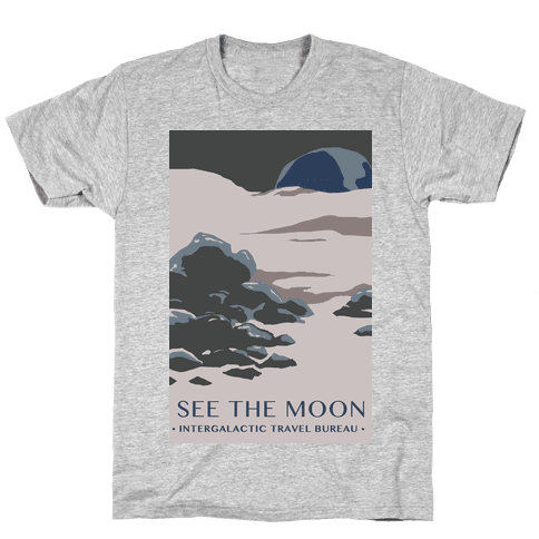 Space Travel - The Moon Mens T-Shirt