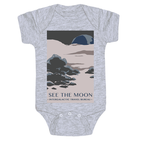Space Travel - The Moon Baby Onesy