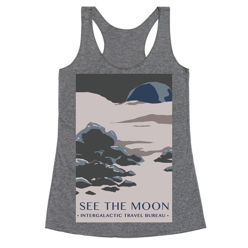 Space Travel - The Moon Racerback Tank Top