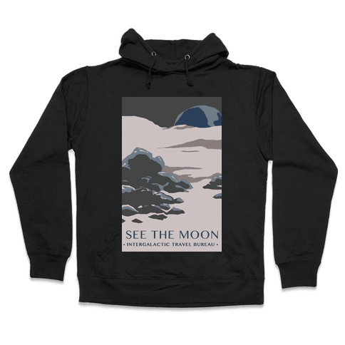 Space Travel - The Moon Hooded Sweatshirt