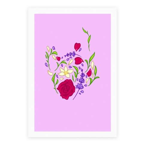 Floral Teapot Poster