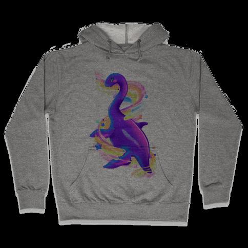 Neon Rainbow Loch Ness Hooded Sweatshirt