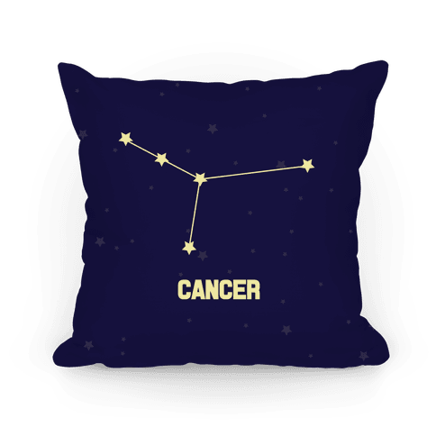 Cancer Horoscope Sign Pillow