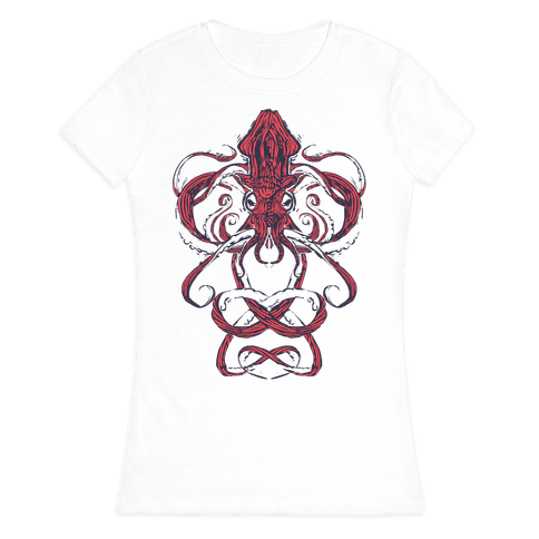 Kraken Tangle Womens T-Shirt