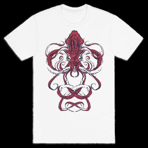 Kraken Tangle Mens T-Shirt