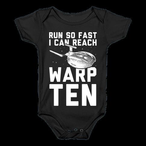 I Can Reach Warp Ten Baby Onesy