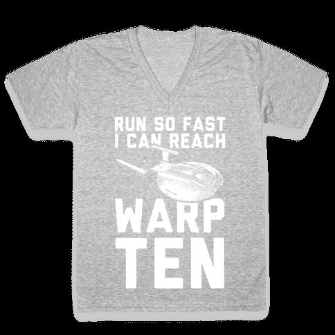 I Can Reach Warp Ten V-Neck Tee Shirt