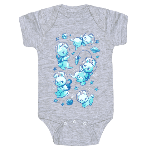 Bunnies In Space Baby Onesy