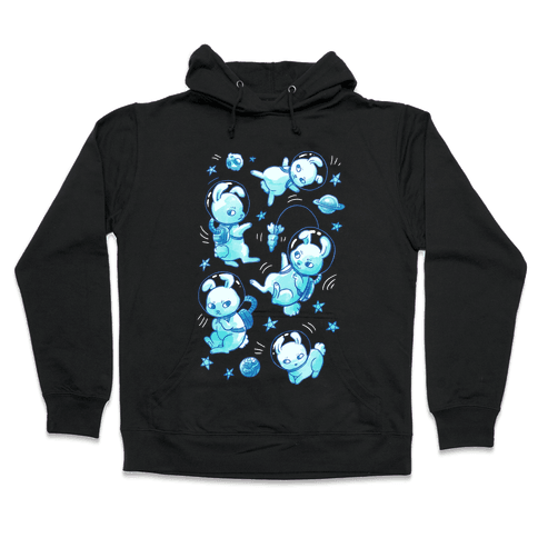 Bunnies In Space Hooded Sweatshirt