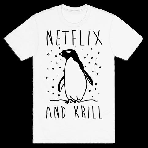Netlfix And Krill Penguin Mens T-Shirt