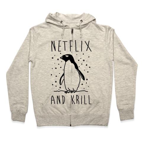 Netlfix And Krill Penguin Zip Hoodie