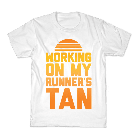 Working On My Runner's Tan Kids T-Shirt