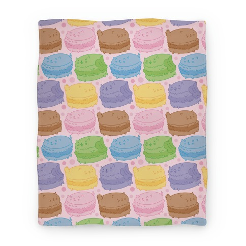 Cat Macarons Blanket