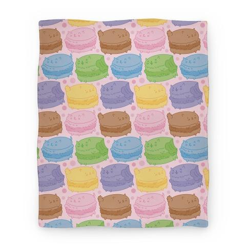 Cat Macarons Blanket