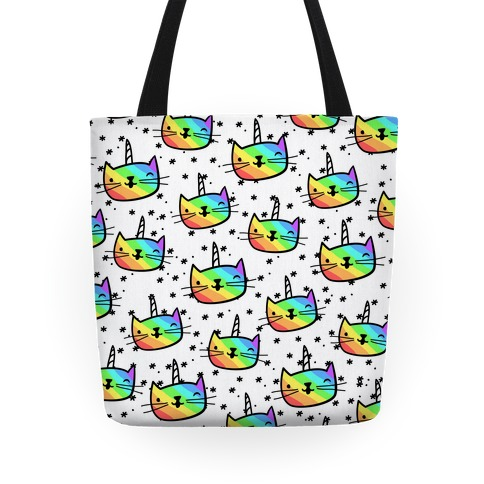 Caticorn Pattern Tote