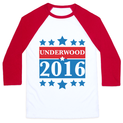 Underwood For President 2016 Baseball Tee