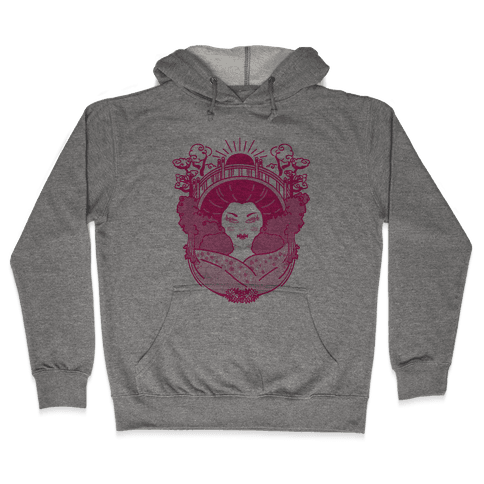 Geisha Garden Hooded Sweatshirt