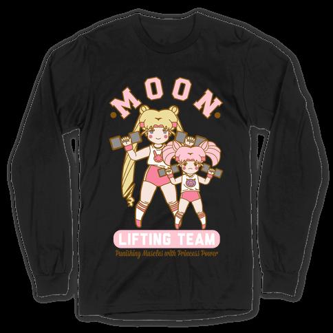 Moon Lifting Team Parody Long Sleeve T-Shirt