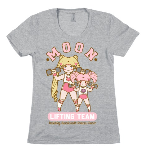 Moon Lifting Team Parody Womens T-Shirt