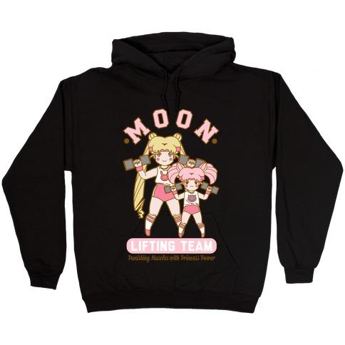 Moon Lifting Team Parody Hooded Sweatshirt