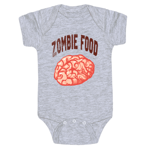 Zombie Food Baby Onesy
