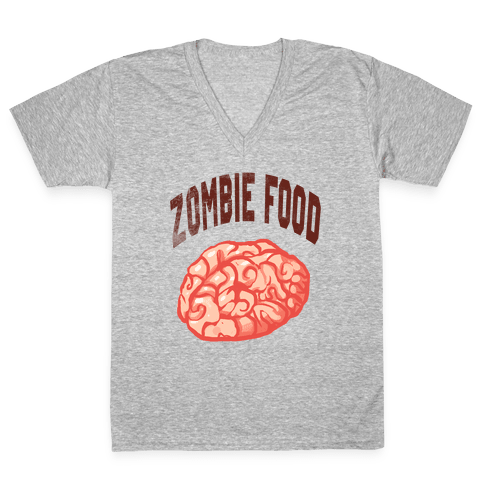 Zombie Food V-Neck Tee Shirt
