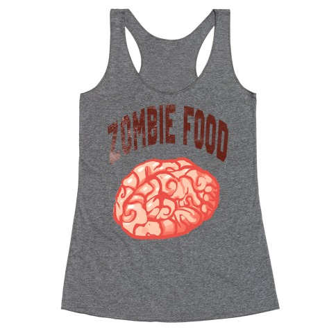 Zombie Food Racerback Tank Top