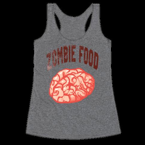 Zombie Food Racerback Tank Top