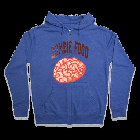 Zombie Food Zip Hoodie