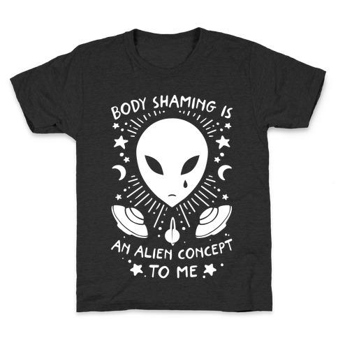 Body Shaming Is An Alien Concept Kids T-Shirt