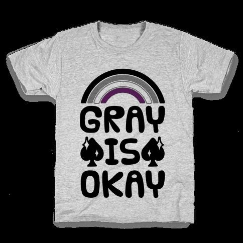 Gray Is Okay Kids T-Shirt