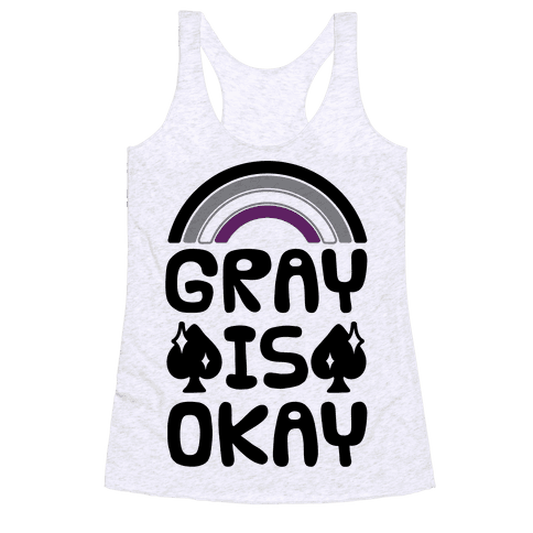 Gray Is Okay Racerback Tank Top