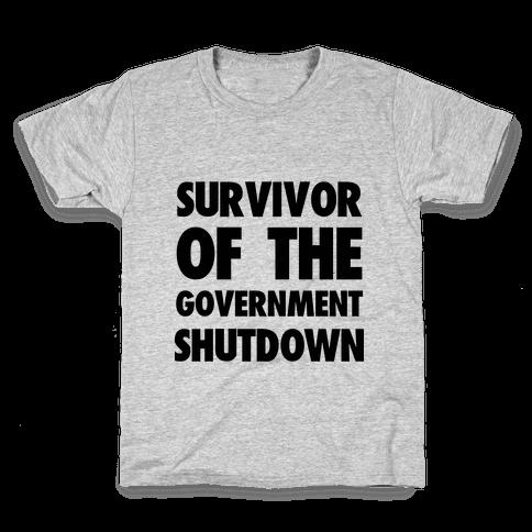 Survivor of the Government Kids T-Shirt