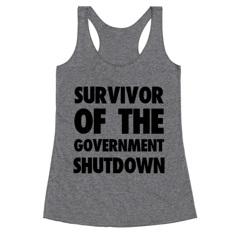 Survivor of the Government Racerback Tank Top