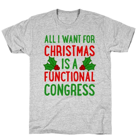 All I Want For Christmas Is A Functional Congress T-Shirt