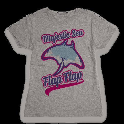 Majestic Sea Flap Flap Womens T-Shirt