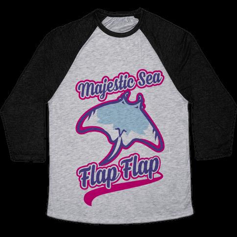 Majestic Sea Flap Flap Baseball Tee