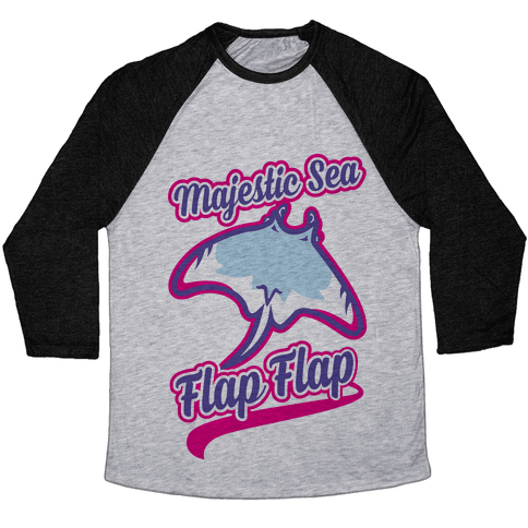 Majestic Sea Flap Flap Baseball Tee