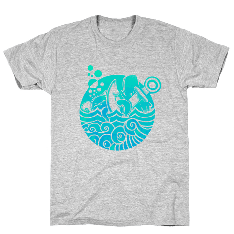 Aqua Friends, Octopus & Whale Mens T-Shirt